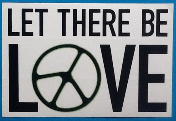 Oasis Let There Be Love Unused Promo Sticker 2005