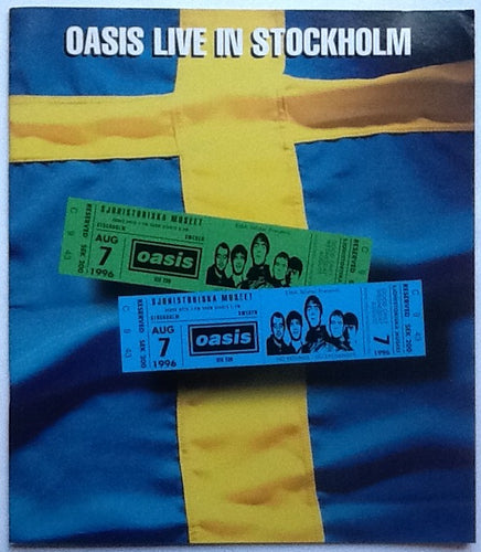 Oasis Original Concert Programme Sjohistoriska Stockholm 7th Aug 1996
