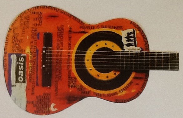 Oasis Importance of Being Idle NMint Guitar Shaped Promo Sticker 2005
