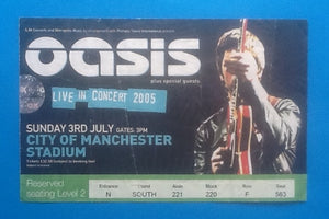 Oasis Original Used Concert Ticket Manchester 3rd July 2005