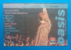 Oasis Original Used Concert Ticket London 1995