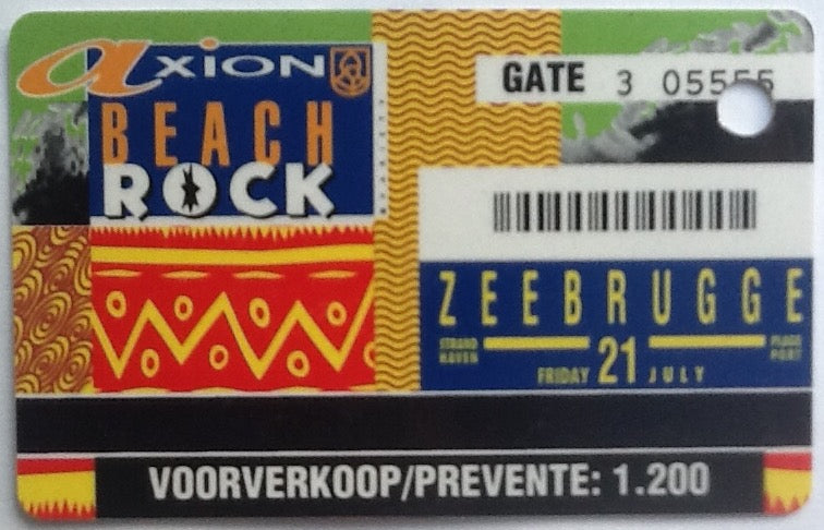 Oasis Paul Weller Original Concert Ticket Beach Rock Festival Strand Haven Zeebrugge 1995