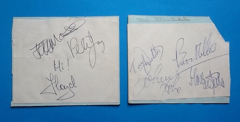 Peter Jay & The Jaywalkers Original Complete Set of Autographs