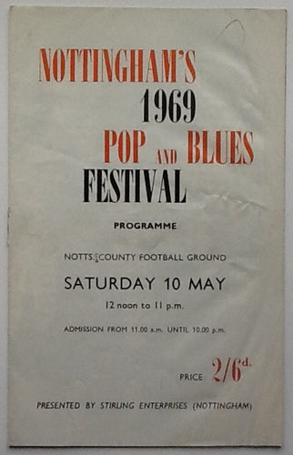 Pink Floyd Fleetwood Mac Original Concert Programme Nottingham Pop and Blues Festival 1969
