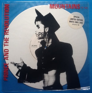 "Prince Mountains Rare 2 Track 10"" White Vinyl Single in PVC Sleeve 1986"