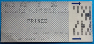 Prince Original Used Concert Ticket Wembley London 11 July 1990