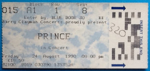 Prince Original Used Concert Ticket Wembley London 24 August 1990