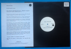 "Paul Weller Hung Up 4 Track 12"" NMint White Label Promo with Press Release UK 1994"