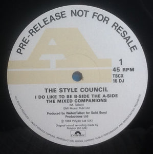 "Style Council I Do Like To Be B-Side The A-Side 2 Track 12"" NMint DJ Promo 1988"