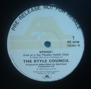 "Style Council Spank!  2 Track 12"" NMint DJ Promo UK 1988"