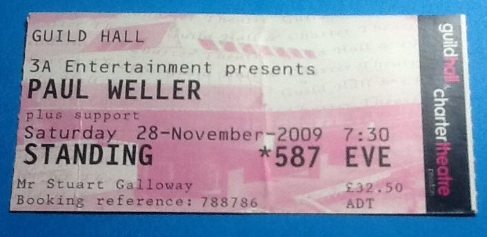 Paul Weller Ticket Preston 2009
