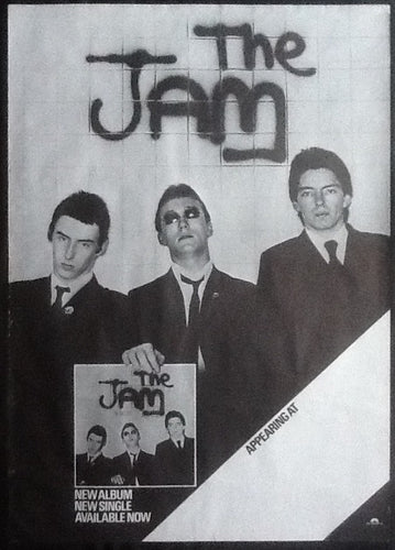 Jam Original Concert & Album Promo Poster In The City Tour 1977