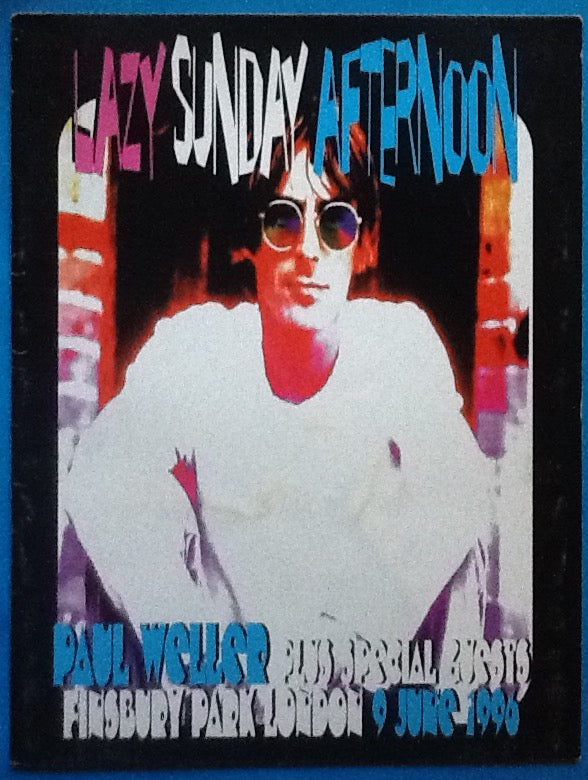 Paul Weller Original Concert Tour Programme Finsbury Park London 1996