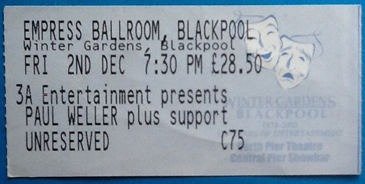 Paul Weller Original Used Concert Ticket Blackpool 2005