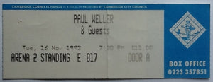Paul Weller Original Used Concert Ticket Cambridge 1993