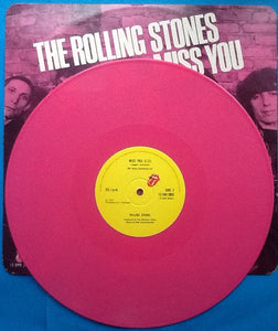 "Rolling Stones Miss You 2 Track 12"" Pink Vinyl Single Europe 2006"