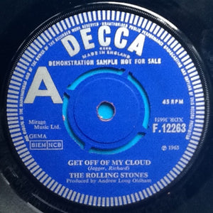 "Rolling Stones Get Off Of My Cloud 2 Track 7"" Demo UK 1965"