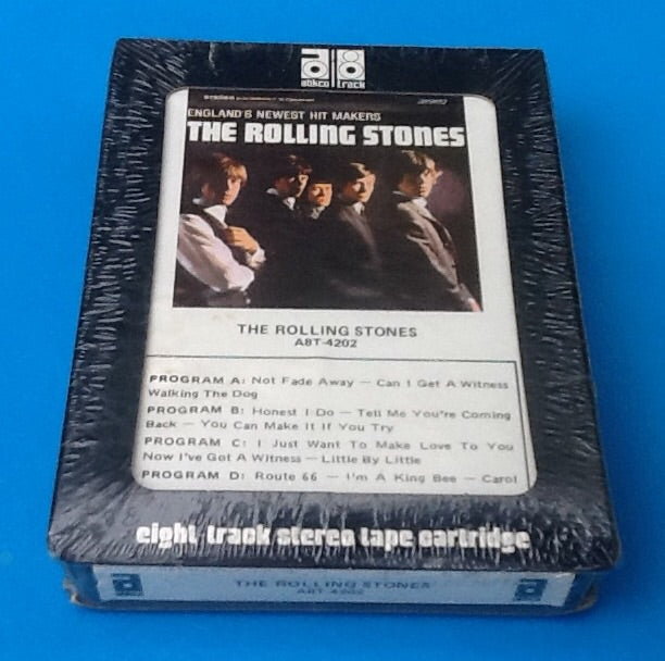 Rolling Stones Sealed 8 Track England's Newest Hit Makers Black Cartridge