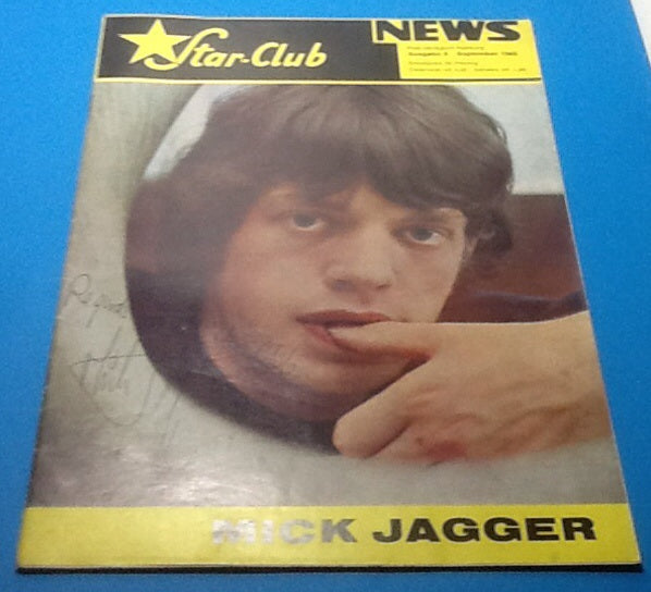 Rolling Stones Mick Jagger Star Club News Magazine 1965