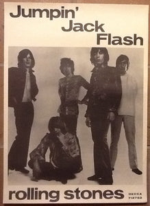 Rolling Stones Jumpin' Jack Flash Original Promotional Poster 1968