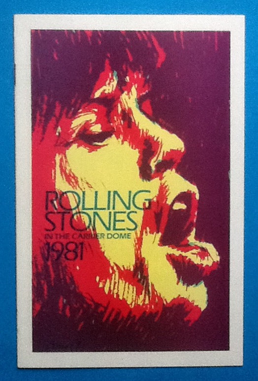 Rolling Stones Concert Programme Syracuse 1981