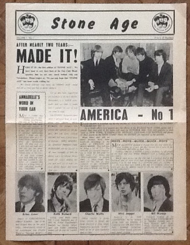 Rolling Stones Stone Age Original Fan Club Newsletter Magazine Vol 1 No 1 1965