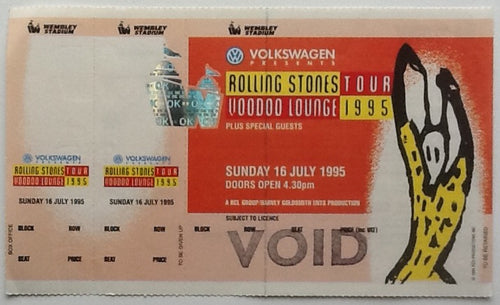 Rolling Stones Original Printers Proof Ticket Wembley Stadium London 1995