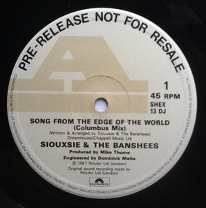Siouxsie & the Banshees Song From the Edge of the World 3 Track NMint 12