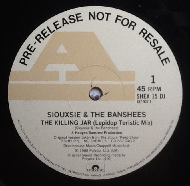 Siouxsie & the Banshees The Killing Jar 3 Track NMint 12