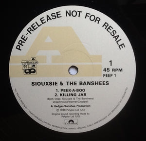 "Siouxsie & the Banshees Peepshow 4 Track NMint 12"" Promo Demo Vinyl UK 1988"