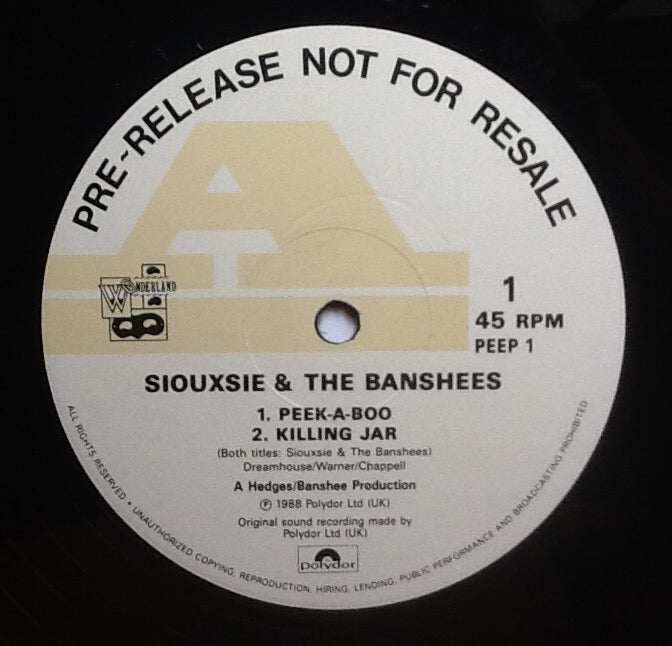 Siouxsie & the Banshees Peepshow 4 Track NMint 12