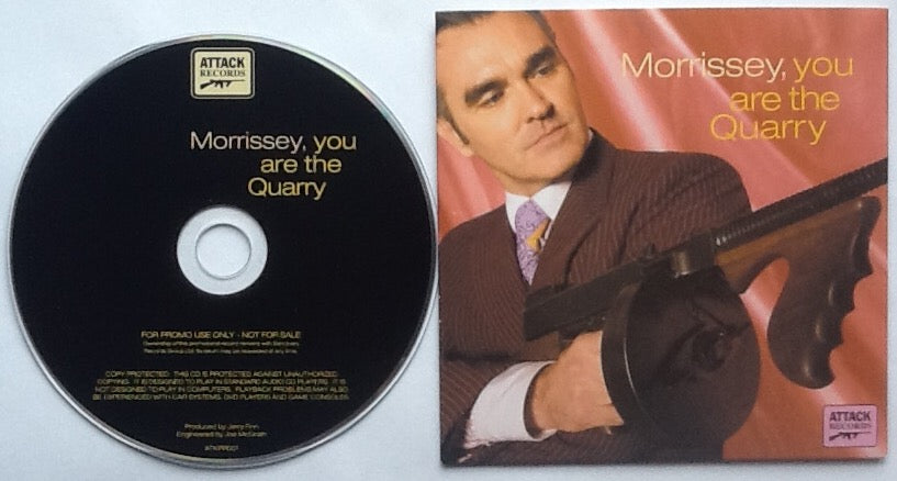 Morrissey You Are The Quarry 12 Track NMint Promo Demo CD 2004