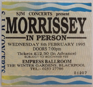 Morrissey Original Used Concert Ticket Empress Ballroom Blackpool 8th Feb 1995