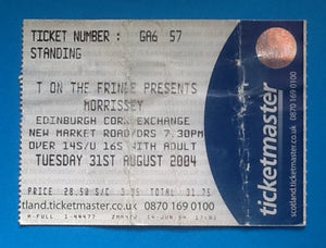 Morrissey Used Concert Ticket Edinburgh 2004