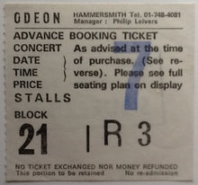 Load image into Gallery viewer, Squeeze Original Used Concert Ticket Hammersmith Odeon London 1981