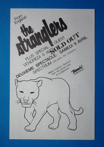 Stranglers The Fall Original Handbill - Flyer Montreal 1983