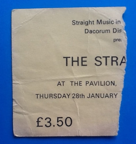 Stranglers Original Concert Ticket Hemel Hampstead 1982