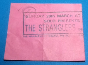 Stranglers Ticket London 1987