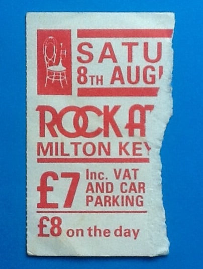 Thin Lizzy Original Used Concert Ticket Milton Keynes 1981