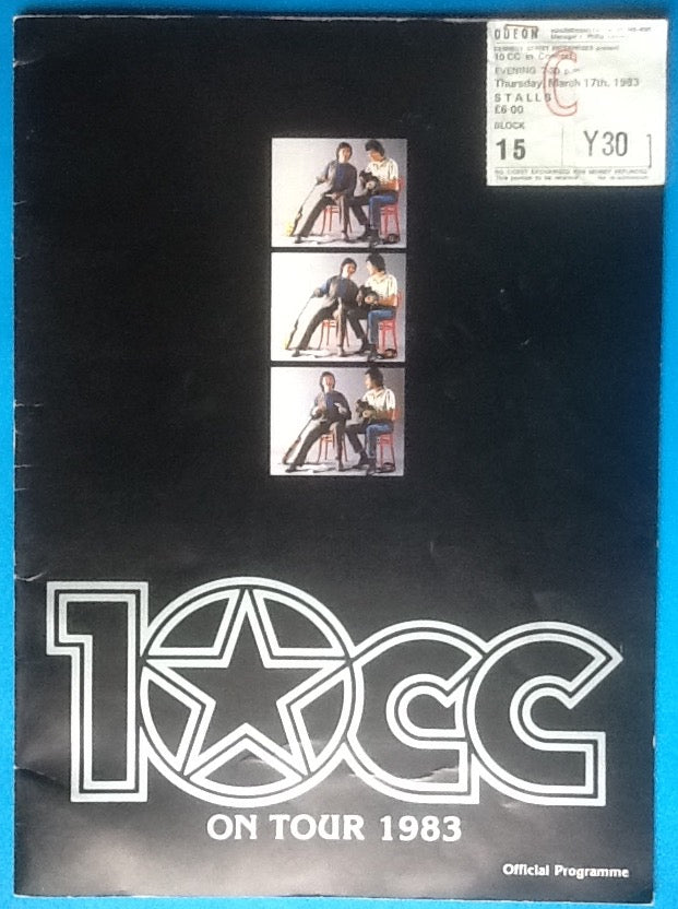 10cc Original Concert Programme and Ticket London 1983
