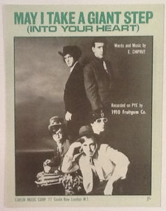 1910 Fruitgum Company May I Take A Giant Step Original Mint Sheet Music 1968