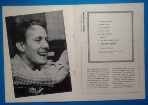 Adam Faith John Barry Seven Programme UK Tour 1961
