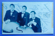 Load image into Gallery viewer, Bachelors Fully Autographed Promotional Decca Postcard 1963