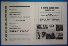 Load image into Gallery viewer, Billy Fury Programme Great Yarmouth 1966