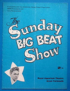 Billy Fury Programme Great Yarmouth 1966