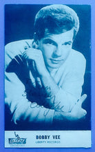 Load image into Gallery viewer, Bobby Vee Autographed  Liberty Publicity Postcard 1960's