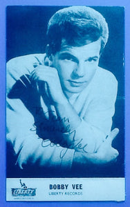 Bobby Vee Autographed  Liberty Publicity Postcard 1960's