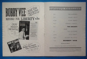 Bobby Vee Meets The Crickets UK Tour Programme 1962