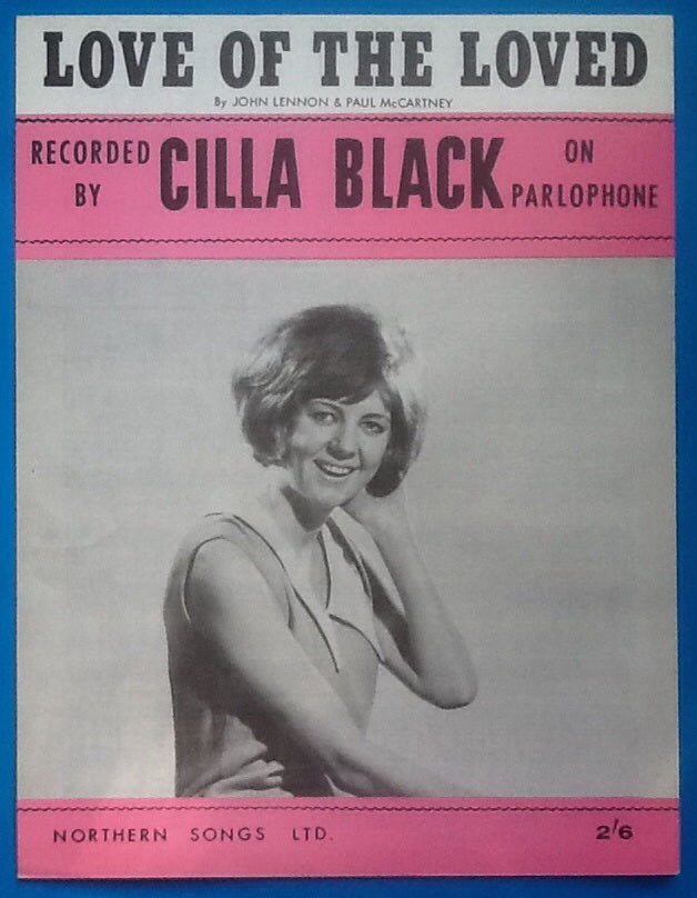 Cilla Black Love of the Loved Sheet Music 1963
