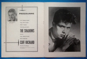Cliff Richard The Shadows UK Tour Programme 1962